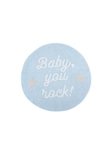 Lorena Canals Baby You Rock, Halı,Çap:  120 Mavi